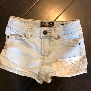 Lucky brand super cute girls jean shorts 4T